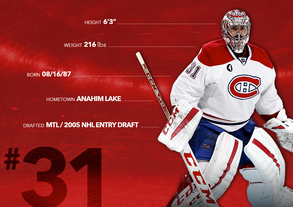 """Height: 6'3"""" Weight: 216 lbs Born: 08/16/87 Hometown: Anahim Lake Drafted: MTL / 2005 NHL Entry Draft"""